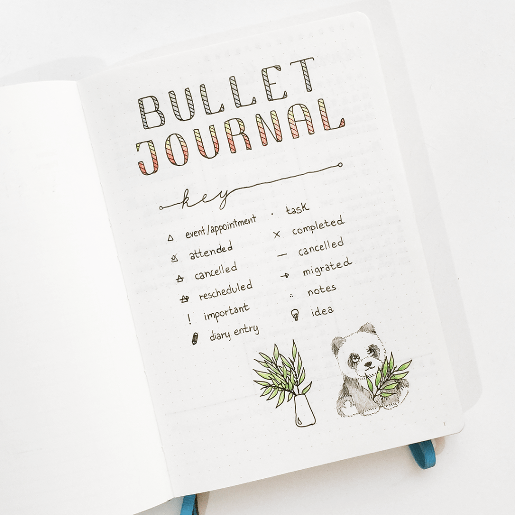 The best bullet journal key pages!