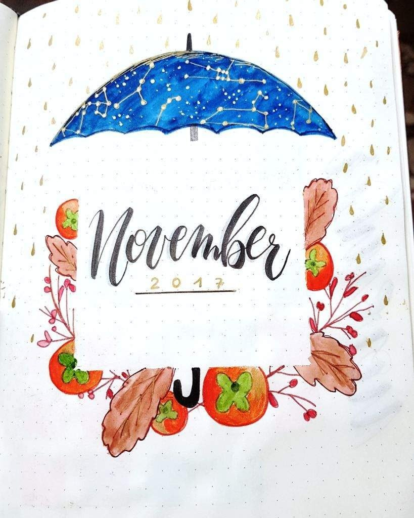 Creative November cover pages for your bullet journal!