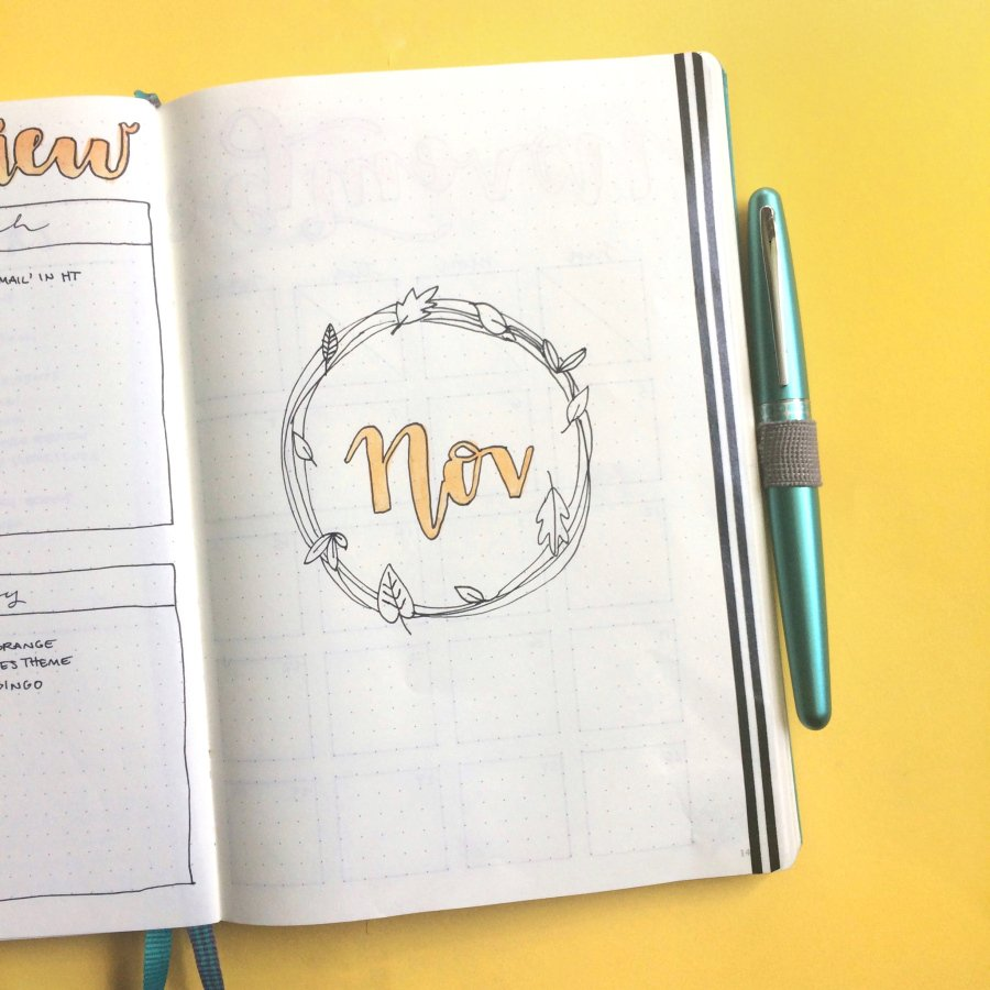November cover pages for your bullet journal!