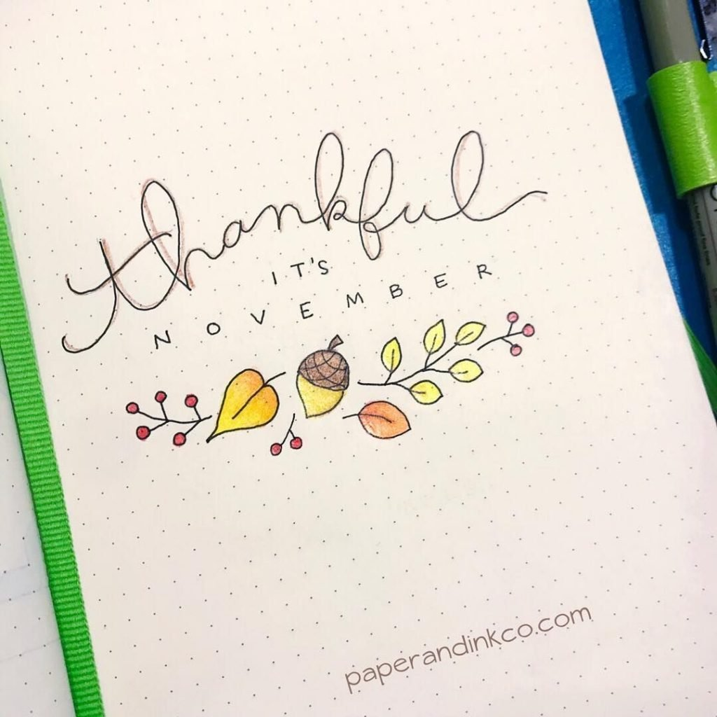 November quotes for your bullet journal!