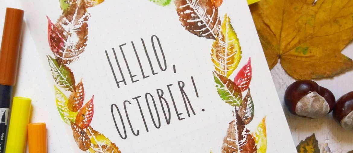 October cover page! tons of fall cover pages for your bullet journal!