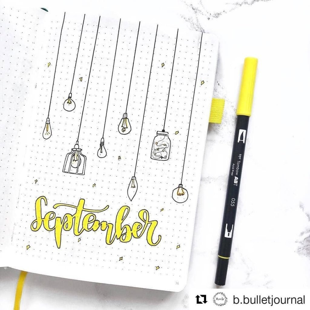 Unique fall cover pages for your Bullet Journal!