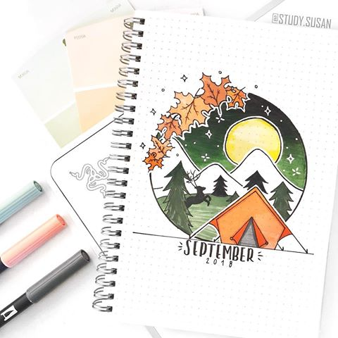 Amazing fall themed bullet journal cover pages