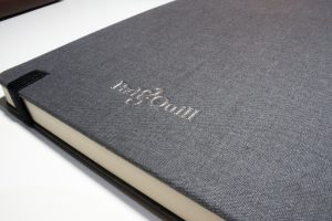 pad & quill journal notebooks embossed back cover