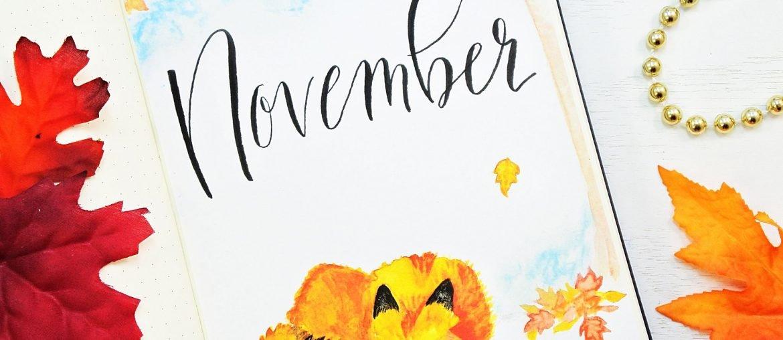 Foxy November Bullet Journal Setup