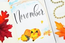 November bullet journal setup. Fox bullet journal