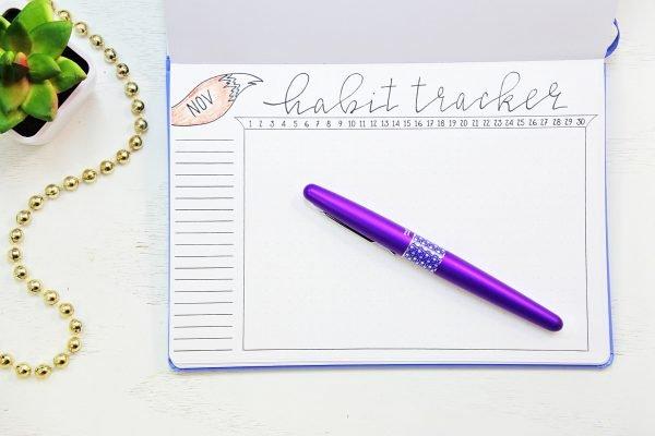 november habit tracker
