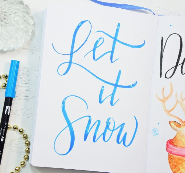 hand lettered bullet journal quotes