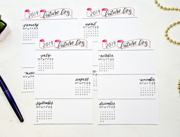 Printable future log