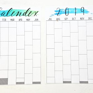 picture about Bullet Journal Calendar Printable known as 2019 Calendex - Turquoise