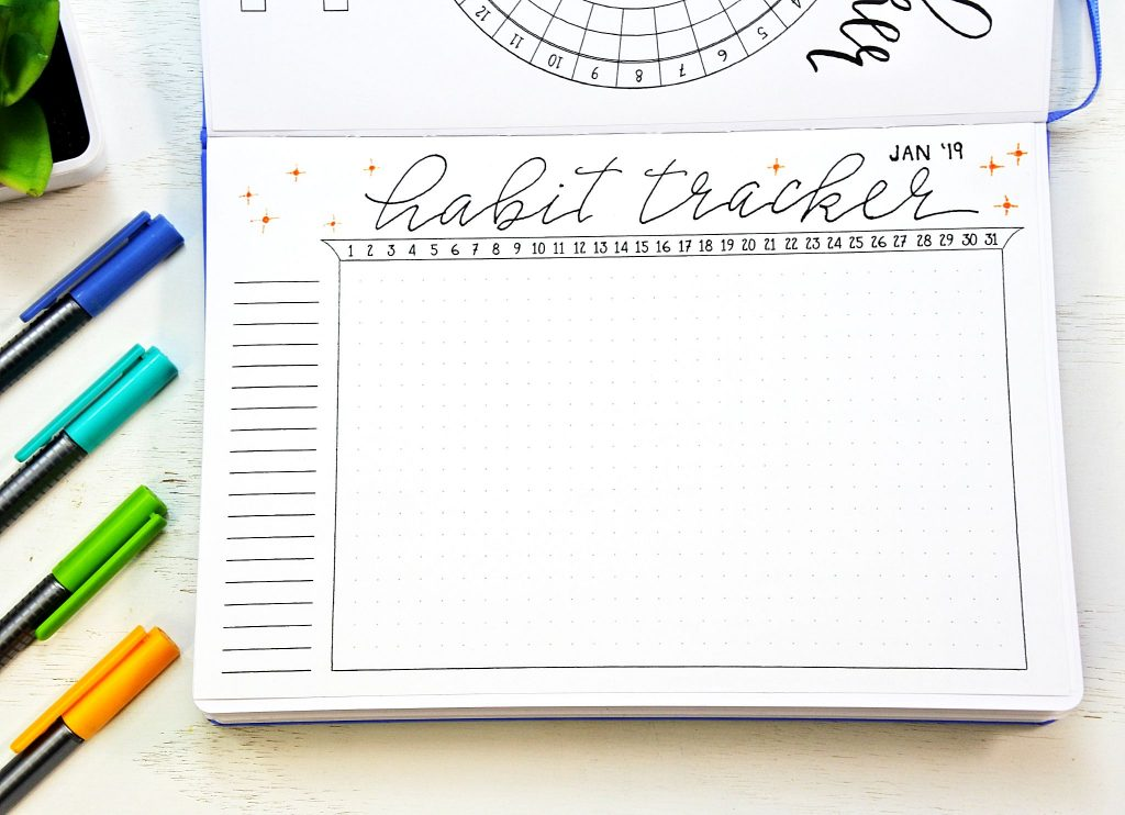 free bullet journal tracker for habits