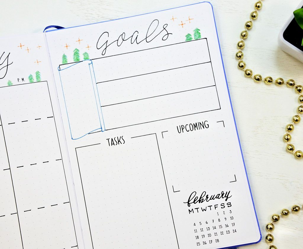 free printable journal goals page