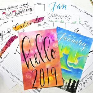 2019 bullet journal starter kit with 30 printables! The ultimate printable bullet journal setup!