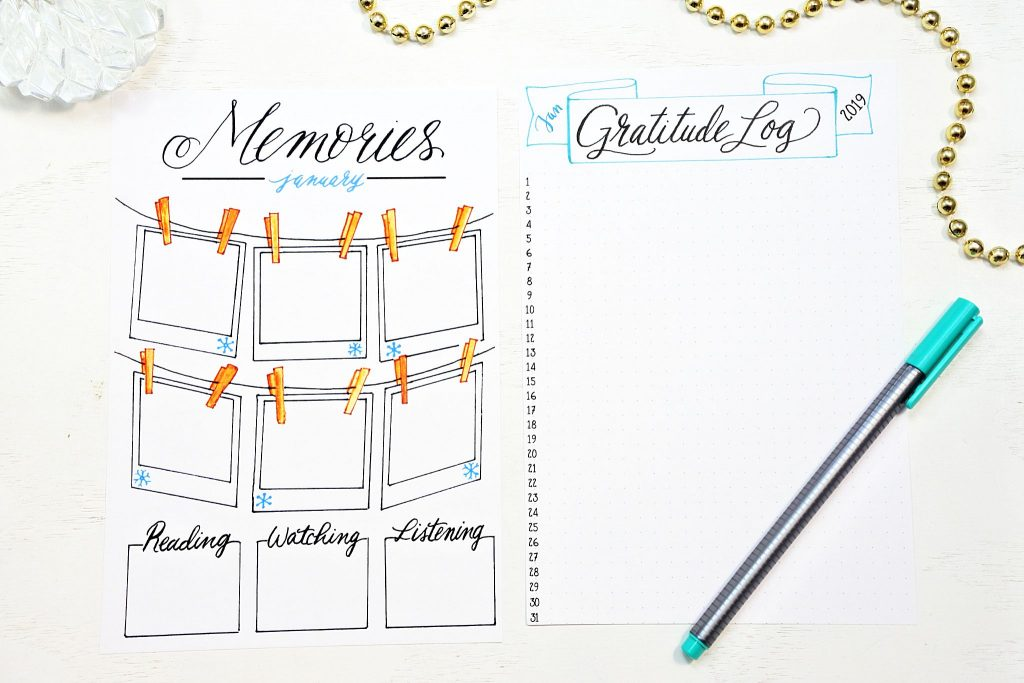 picture about Mood Tracker Bullet Journal Printable referred to as Bullet Magazine Set up for 2019 with 30 Printables! ⋆ Sheena