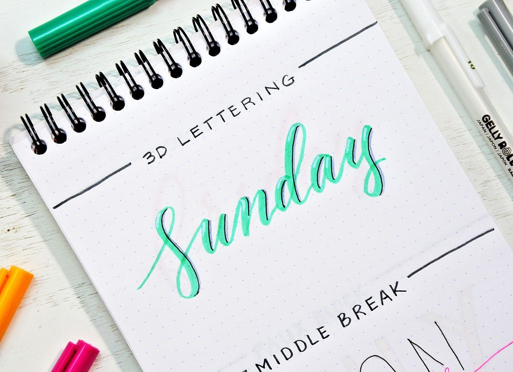 12 Bullet Journal Fonts Anyone Can Do! ⋆ Sheena of the Journal
