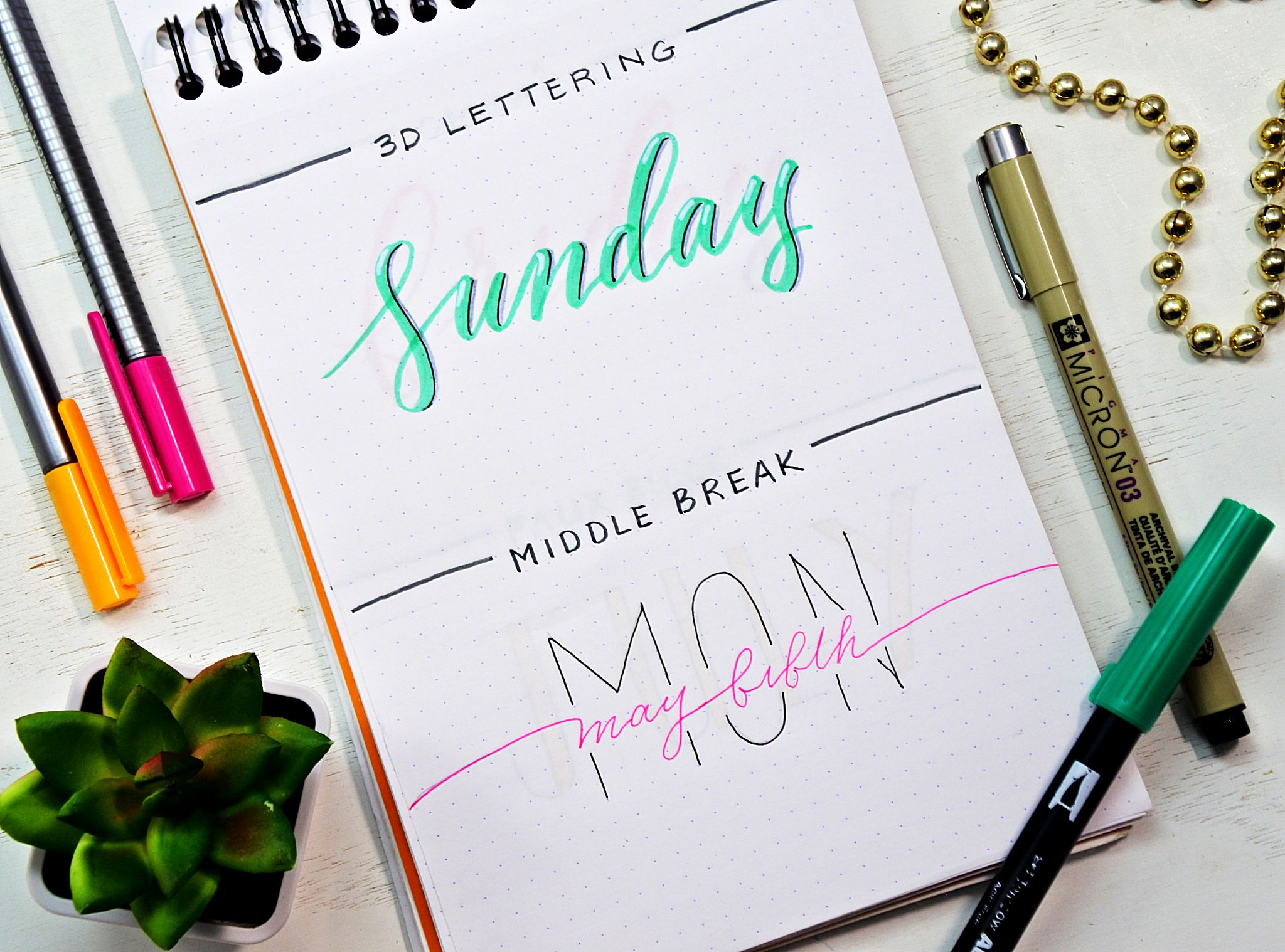 12 Bullet Journal Fonts Anyone Can Do!