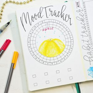 April bullet journal mood tracker