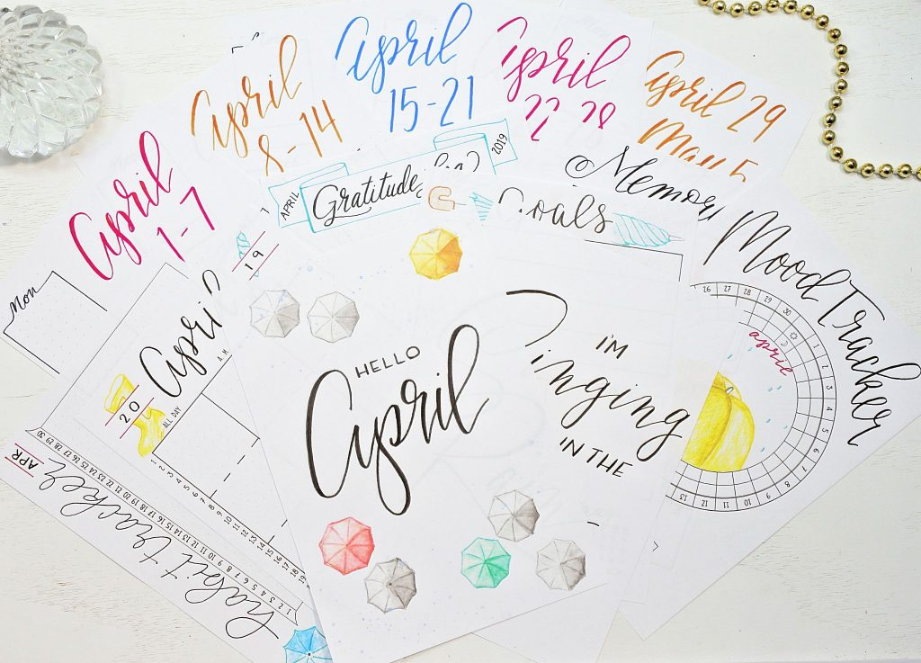 Printable April Bullet Journal Setup