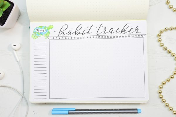 Printable habit tracker for may bullet journal