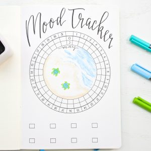Circular mood tracker for may bullet journal