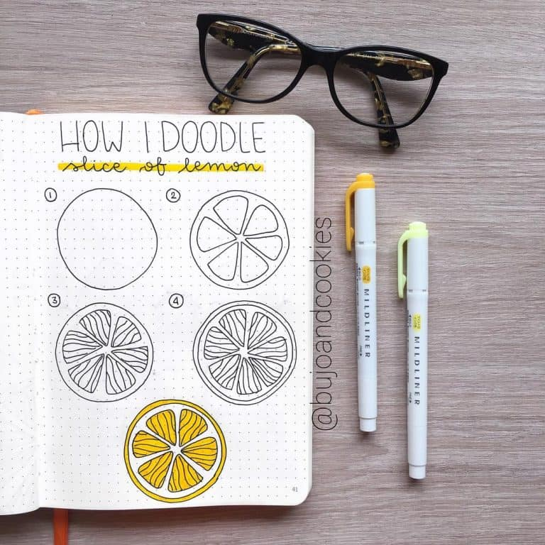 Bullet journal doodles how to draw a lemon