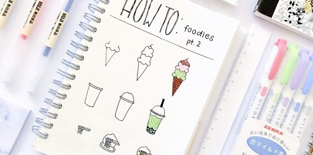 Bullet Journal Doodles - 30 Easy Tutorials! ⋆ Sheena of the