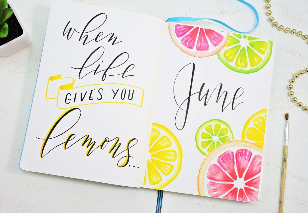 Citrus Cover page and hand lettered quote.