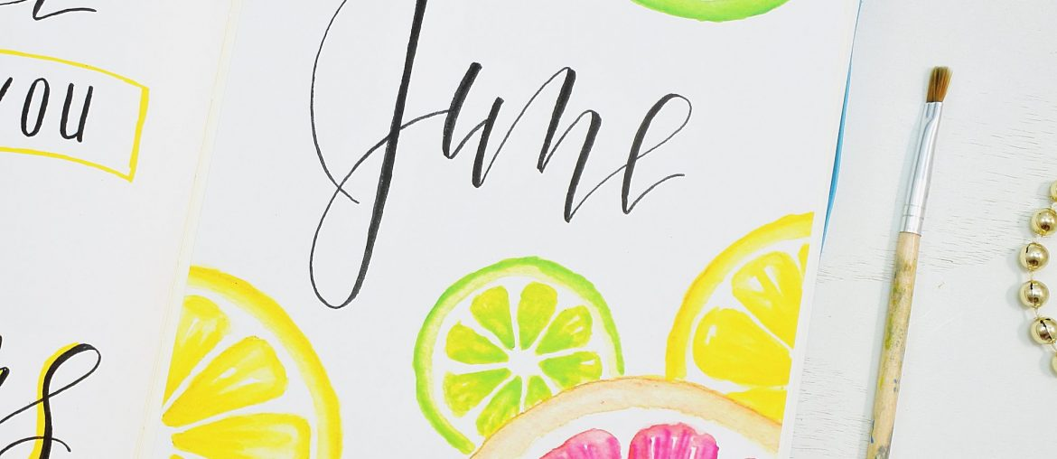 Citrus bullet journal June cover