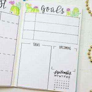 bullet journal setup for august
