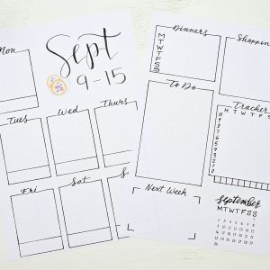 photo relating to Printable Bullet Journal Paper called Printable September Bullet Magazine 2019