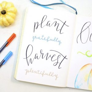 Hand lettered quote for bullet journal