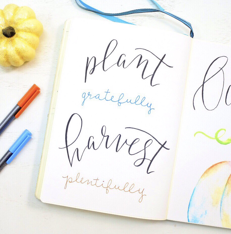 Bullet Journal hand lettered quote