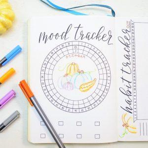 October circular mood tracker