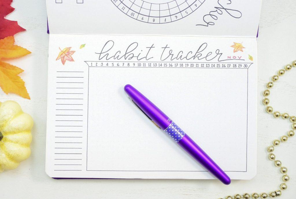 Bullet journal habit tracker
