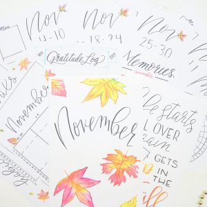 November bullet journal printables