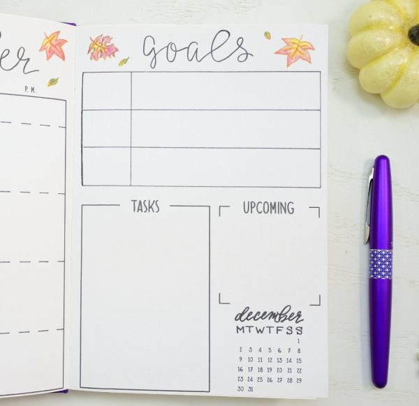 November bullet journal printables