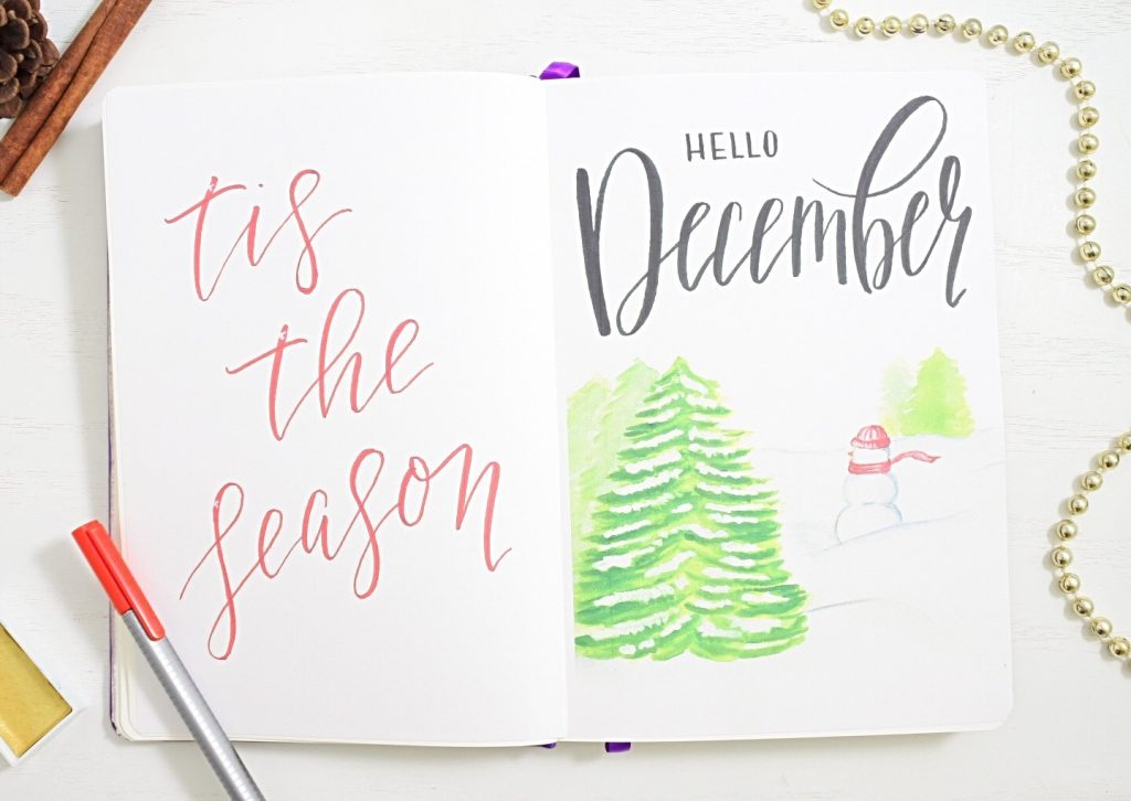 December bullet journal theme