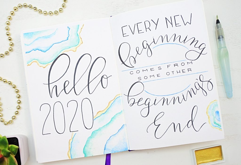 2020 bullet journal cover pages