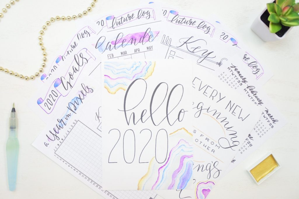 2020 printable bullet journal starter kit