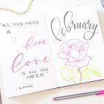 February Bullet Journal Setup 2020
