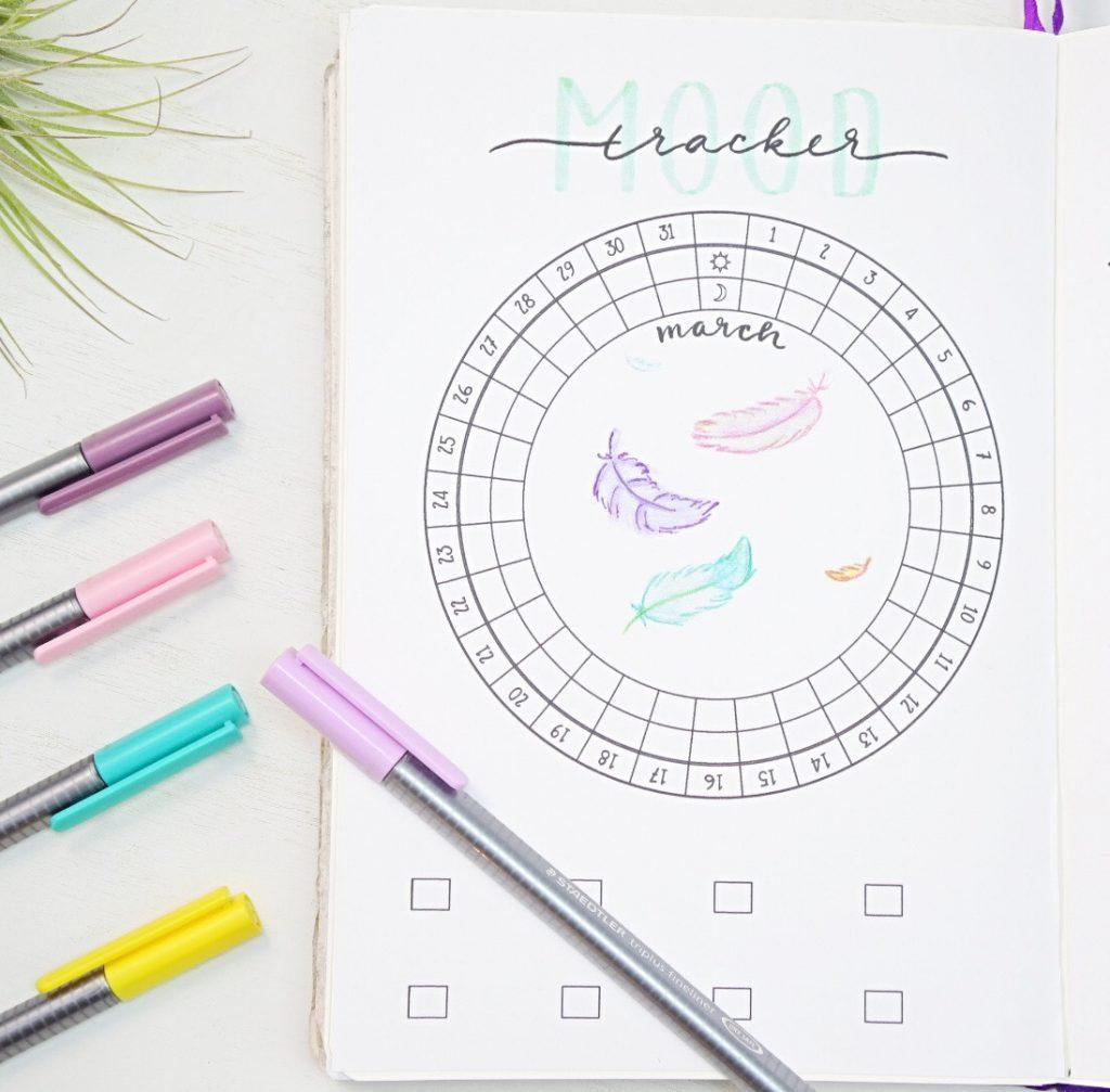 March circular mood tracker 2020