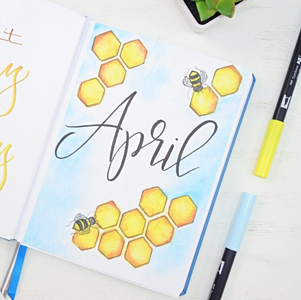 April cover page bullet journal