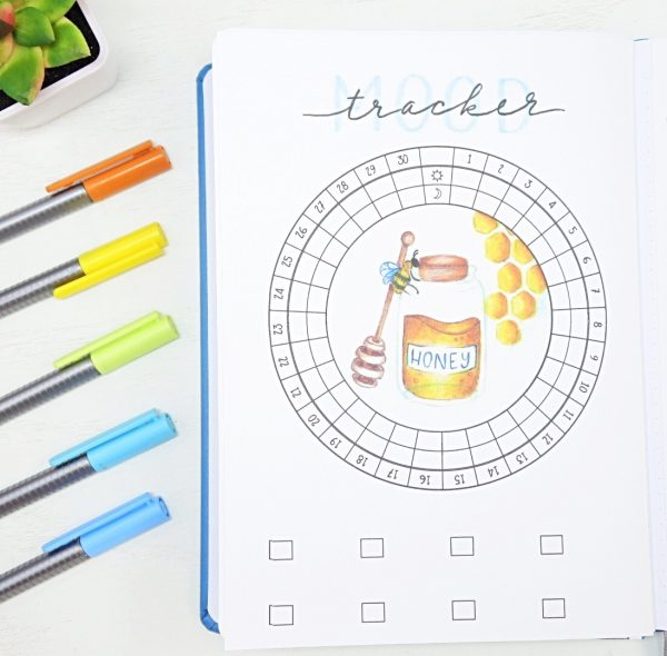 April circular mood tracker