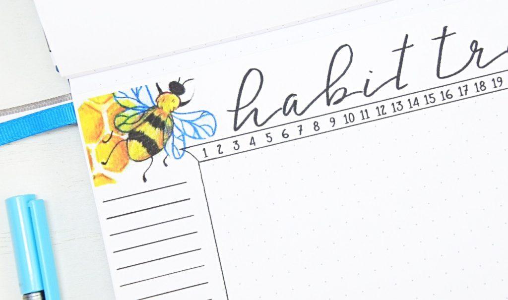 Bullet journal bee theme