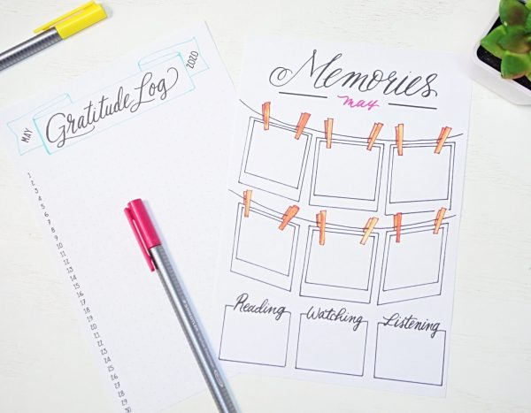 BUllet journal layouts