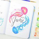 June Bullet Journal Setup – 18 Printable June Spreads